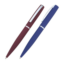 Rubberized metal ball pen