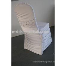 Couverture de chaise Lycra plissé, couverture de chaise de Banquet