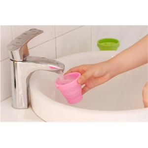 Candy Color Silicone Folding Cup For Drink When Travelling