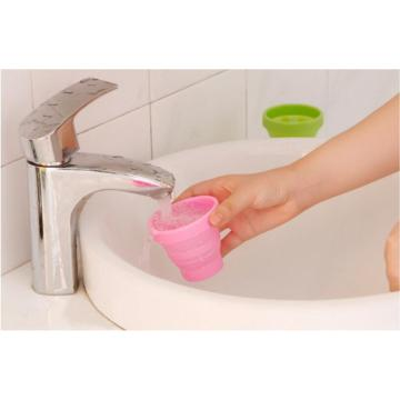 Candy Color Silicone Folding Cup para beber ao viajar