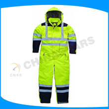 OEM 100% polyester oxford reflective safety clothes safety coverall