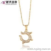 31935 xuping vente chaude belles dames bijoux de mode 18 carats plaqué or pendentif pour les femmes