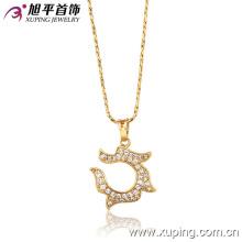 31935 xuping горячие продажи красивые дамы ювелирные изделия 18k позолоченный ожерелье для женщин