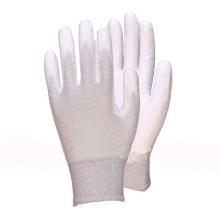 Nylon Liner Knit Handgelenk Weiß PU Coated Handschuh
