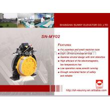 Magnet synchron gearless motor 630-2000 kg heben