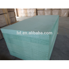 green MDF board with white melamine paper 18mm