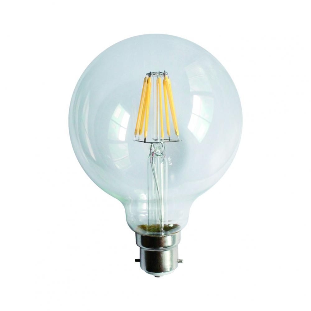 À incandescence LED lampe G95 8W B22