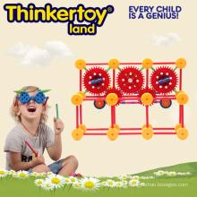 Brinquedos educativos Blocos de construção plástica magnética para crianças