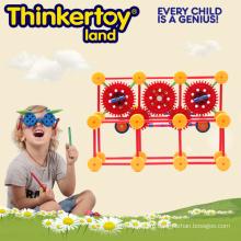 Обучающие игрушки Пластиковые магнитные строительные блоки для детей