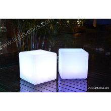 30 cm /multi color changing/reasonable price/factory direct sale waterproof rechargeable plastic square bar stool