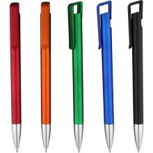 Jualan Hot Paint Metallic Click Action Promotional Pen