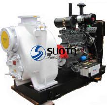Pompe à moteur diesel avec remorque