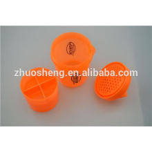 16oz hot sale, popular acrylic cup with drinking straw for customize