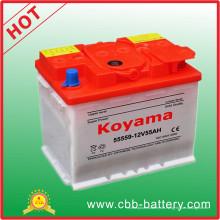 12V 55ah DIN55 trocken aufgeladene Autobatterie für Europer Auto 55559