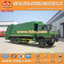 DONGFENG 6x4 16/20 m3 grand camion de compression à ordures moteur diesel 210hp avec mécanisme de pressage