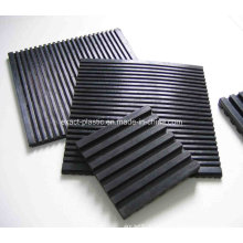 Grooved Rubber Matt Under The Footing of AC Systems / Anti Vibration SBR Rubber Pads for HVAC