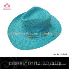 Chapeau de paille cow-boy d'été pour dames