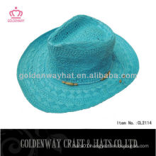 summer cowboy straw hat for ladies