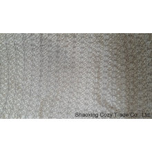 Tejido de bordado de cuerda de plata