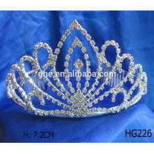 Good service factory directly crown shaped ring tiara