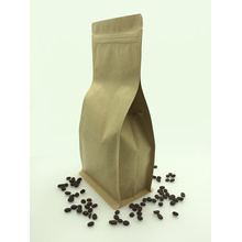 kraft paper clear window packing bag with zipper