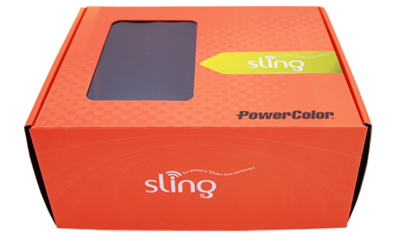 Spot UV Corrugated Paper Window Packaging Box