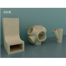 Refractory ceramic abnormity tube