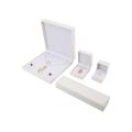 Cajas de regalo de joyería de caja de cuero blanco