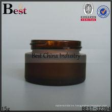 Tarro de cristal ambarino 15g, tarro de cristal ambarino cosmético