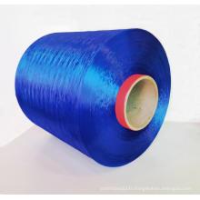 Fibres commerciales de fil de polyester teintes par dopage à haute ténacité
