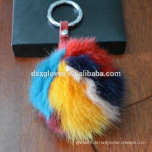 Tier-Pelz-Ball-Umbau-Schlüsselwölbungs-Halter keychain