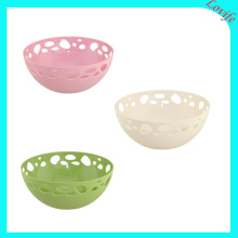Three Color Available Plastic Round Fruit Plate