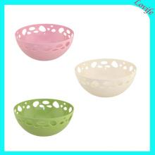 Drei Farbe vorhandene Plastikrunde Fruchtplatte