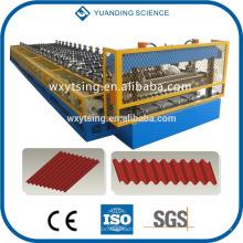 Passado CE e ISO YTSING-YD-6612 telhado ondulado / rolo da folha que forma a máquina
