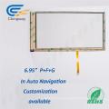 """6.95 """"Película de vidrio para mascotas 4 Vidrios resistivos transparentes de LCD"""