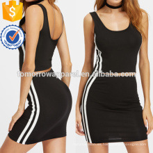 Top sin mangas del lado de la raya con la fabricación de la falda Las mujeres al por mayor forman la ropa (TA4015SS)