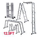Escalera plegable de aluminio para pasamanos multiusos