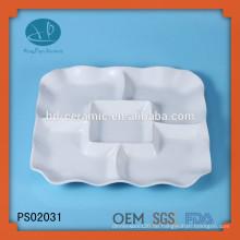 Keramik Material und Porzellan Keramik Typ 5 Fach Teller, quadratische Teller