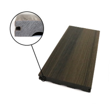 WPC M Type Half Solid Boards Co-Extrusion Waterproof Composite Wood Decking Stair Steps Tread WPC Outdoor Floor Exterior Terrace