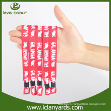 Promotion custom polyester design fabric material wristbands