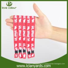 Промотирование пользовательских полиэстер дизайн ткани материала браслеты