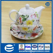 Gracy hogar accesorio porcelana tetera conjunto, té de cerámica conjunto de una