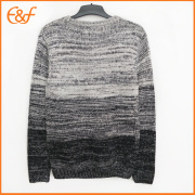 Gradient Color  Cotton Pullover Fashion Men Sweater