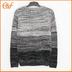 Gradient Color  Cotton Pullover Fashion Men Sweater