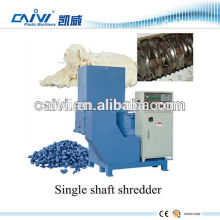 small recycled plastic single shaft shredder machinery for sale