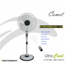 Unitedstar Newest16 '' DC stand ventilateur (USSF-450) avec télécommande / lumière / MP3