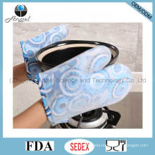Heat Insulation Short Silicone Cooking Glove for Kitchen Sg15