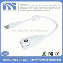 3.5mm Mic Kopfhörersockel 7.1 Kanal USB 3D Soundkarte Adapterkabel