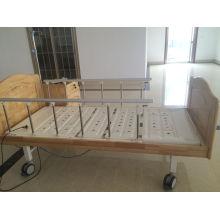 Elektrisches Doppel-Funktions-Krankenhaus-Bett mit hölzernem Bett-Kopf