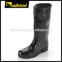 Botas de PVC brilhante, botas de goma de moda, botas de chuva longa W-6039